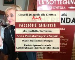 """""""Passione Ghiaccio: Saperi e sapori"""" – Sesto appuntamento con Raffaella Torzoni giovedì 26 aprile ore 17.00"""