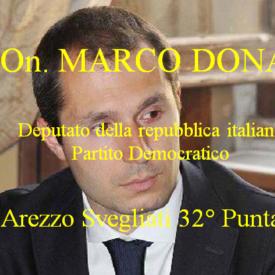 """l'On. Marco Donati Deputato PD ospite su """"Arezzo Svegliati"""""""