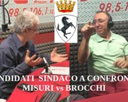 """#ArezzoSvegliati, venerdì 14 febbraio, ore 10.05, Misuri vs Brocchi """"candidati"""" a Sindaco."""