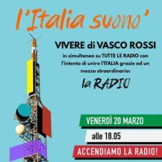 L'Italia Suono' flash mob radiofonico, venerdì 20 marzo, ore 18.05 su RadioFly