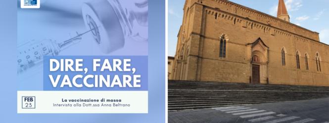 """""""I Lions illuminano la Cattedrale di Arezzo"""", """"Dire, Fare, Vaccinare"""" e molto altro… le anticipazioni e gli ospiti diFlyMug,martedì 23 febbraio"""