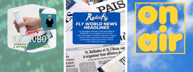 """""""On air"""", """"Fly World News Headlines"""" e molto altro… le anticipazioni e gli ospiti di FlyMug, giovedì 8 aprile"""